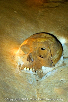 Mayan Skull in ATM Cave